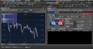 マーケットスピードFXのストリーミング注文画面