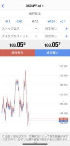 MT4アプリでのデモトレード手順②